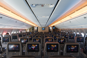 Economic Cabin of China Airlines Boring 777-300ER B-18003