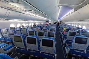 Economic Cabin of China Southern Airlines Boeing 787-9 Dreamliner